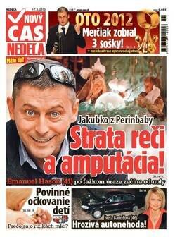 titulná strana týždenníka Nový čas Nedeľa zo 17.III.2013