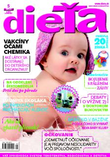 titulná stránka časopisu Dieťa 5/2013