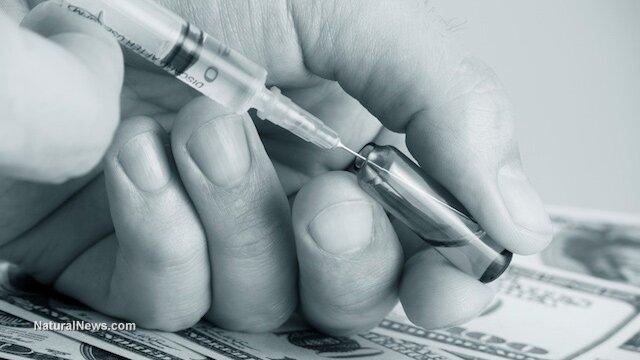 ilustračný obrázok: očkovacia látka a peniaze
